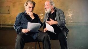 الدكتور اياد حامد مع ممثل سويدي