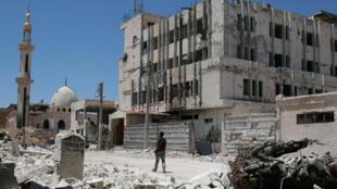 أحد أحياء مدينة درعا السورية