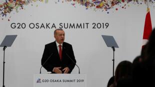 يعقد الرئيس التركي رجب طيب أردوغان مؤتمرا صحفيا في اليوم الأخير من قمة العشرين