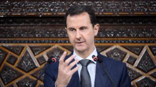 الرئيس السوري بشار الأسد يلقي خطابا أمام البرلمان