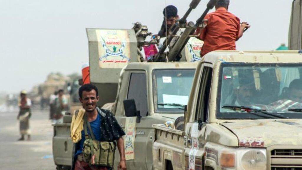 قوات تابعة للتحالف بقيادة السعودية قرب ميناء الحديدة (21-06-2018)