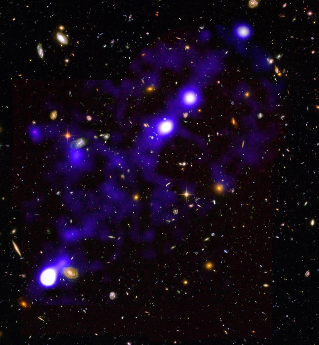 صورة مذهلة نشرها علماء الفصاء الفرنسيون للشبكة الكونية