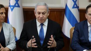 رئيس الوزراء الاسرائيلي بينيامين نتانياهو-