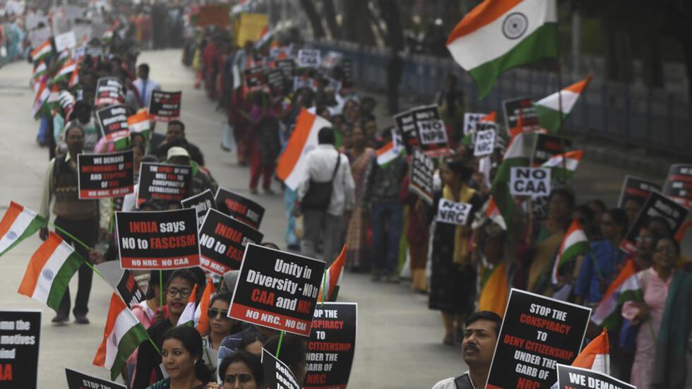 من تظاهرة المسيحيين في كلكوتا