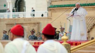 البابا يلقي كلمة في المغرب