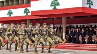عرض عسكري للجيش اللبناني في اليرزة