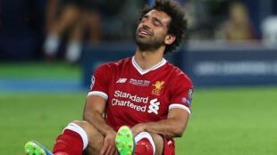 اللاعب محمد صلاح بعد إصابته