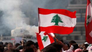من تظاهرات اللبنانيين في بيروت