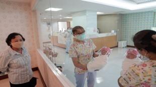مولودون جدد في مستشفى في بانكوك، تايلاند