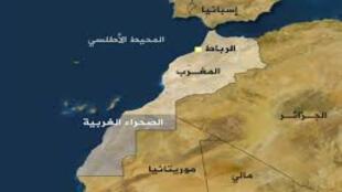 موقع الصحراء الغربية على الخريطة