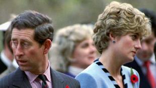 الأميرة الراحلة ديانا وزوجها الأمير تشارلز