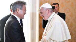 البابا فرنسيس مع رئيس كوريا الجنوبية