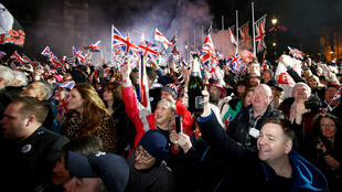 بريطانيون يحتفلون بخروج بريطانيا من الاتحاد الاوروبي