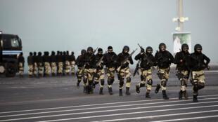 عناصر من القوات الخاصة السعودية خلال تدريبات في مكة