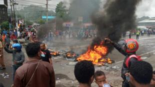 المواجهات في بابوا إندونيسيا