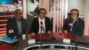 من اليمين الى اليسار: هادي بوبطان، حسان التليلي وزين العابدين حمدة الشريف
