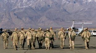 جنود أمريكيون في قاعدة باغرام في أفغانستان