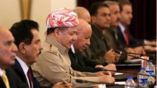 مسعود البرزاني خلال اجتماع