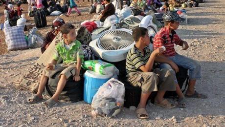أطفال سوريون لاجؤون