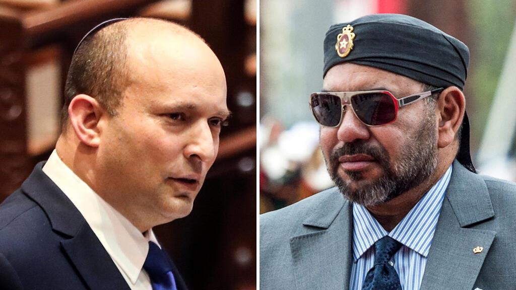 ملك المغرب محمد السادس ورئيس الحكومة الإسرائيلي نفتالي بينيت
