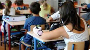 طلاب في مدرسة فرنسية
