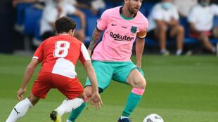 ميسي خلال مباراة برشلونة أمام جيرونا يوم 16 سبتمبر 2020
