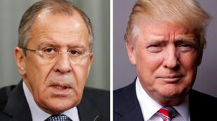 الرئيس الأميركي دونالد ترامب ووزير الخارجية الروسي سيرغي لافروف