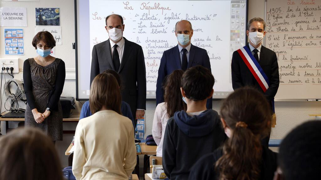 رئيس الوزراء الفرنسي ووزير التربية في اليوم الأول للعودة المدرسية