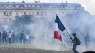 خلال احتجاجات العاصمة باريس