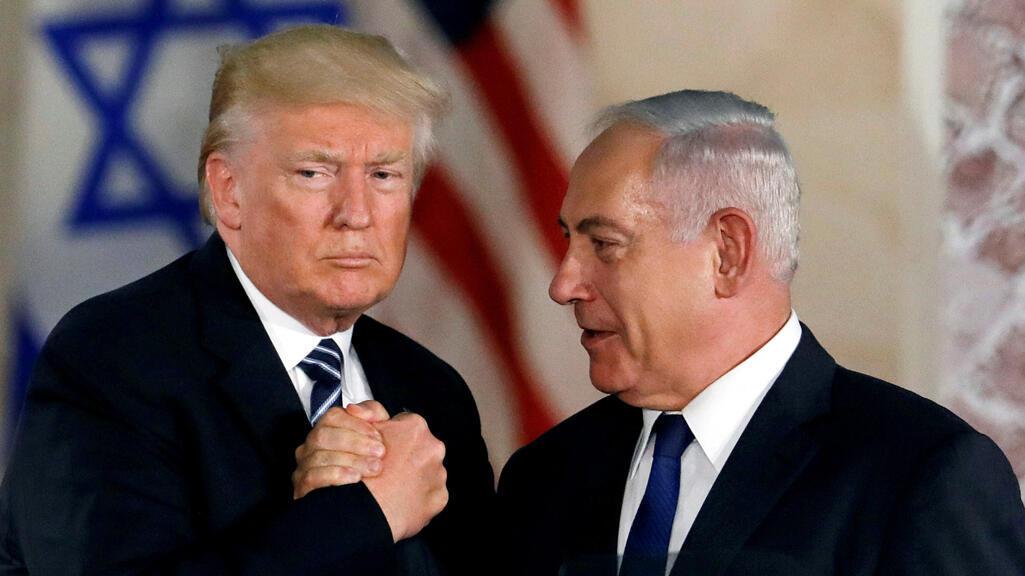 الرئيس الأمريكي دونالد ترامب ورئيس الوزراء الإسرائيلي بنيامين نتانياهو في القدس