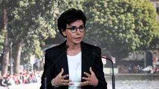 وزيرة العدل الفرنسية السابقة رشيدة داتي في باريس