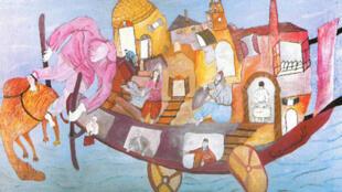 لوحة للفنان التونسي أحمد الحجري