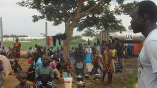 عائلات نازحة من جوبا في جنوب السودان
