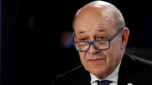 وزير الخارجية الفرنسي جان إيف لو دريان/