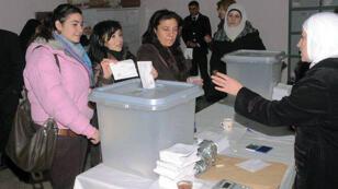 مكتب اقتراع بسوريا