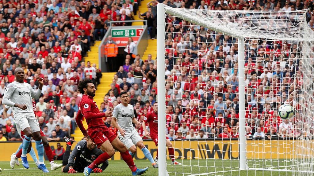 صلاح يسجل الهدف الأول لصالح ليفربول