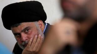 الزعيم الشيعي العراقي مقتدى الصدر في النجف، 1 نوفمبر/تشرين الثاني 2019