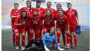 فريق كرة قدم للفتيات في الضفة الغربية (03-04-2017)