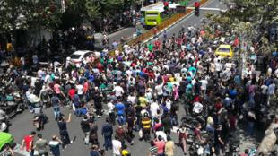 مظاهرة في طهران في 25 - 06 -2018