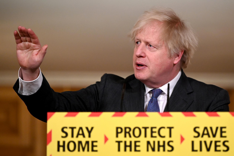 رئيس الوزراء البريطاني بوريس جونسون يوم 22 يناير 2021