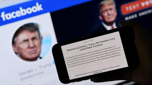 فيسبوك يعلق حساب ترامب حتى 2023