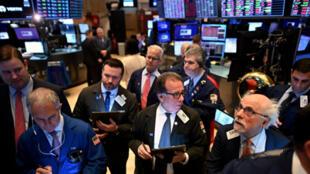 بورصة وول ستريت في نيويوك يوم 28 فبراير/ شباط 2020