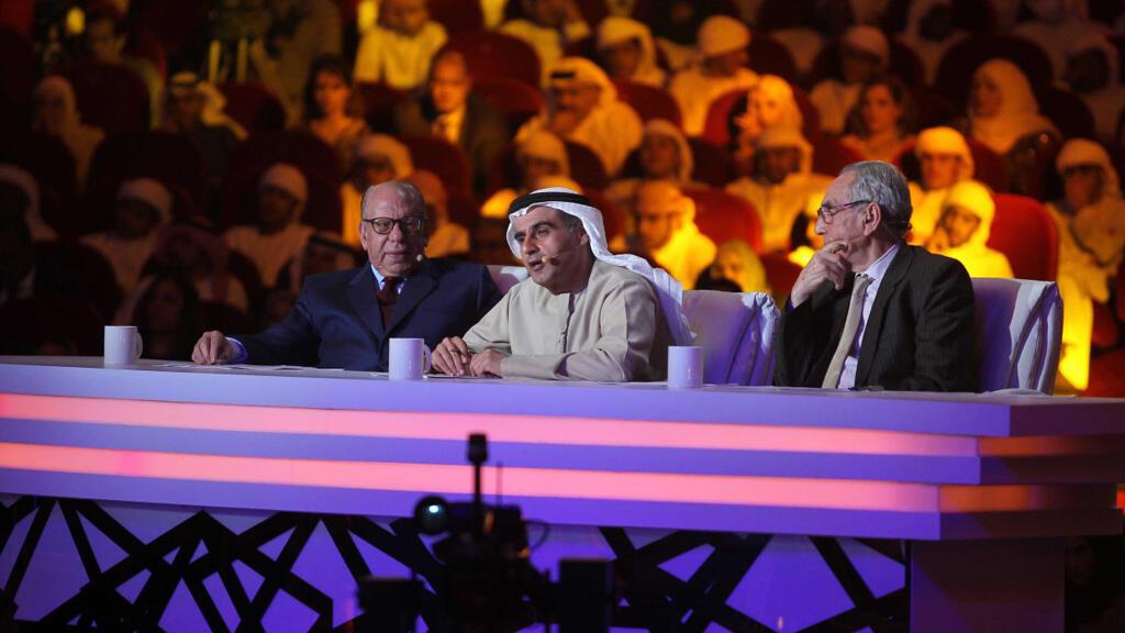 لجنة التحكيم في مسابقة أمير الشعراء (مونت كارلو الدولية/سعد المسعودي)