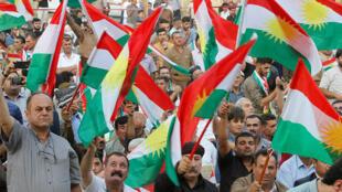 أكراد خلال مظاهرة احتجاجية في العراق