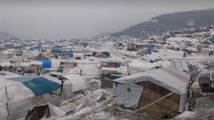 مخيم قرب إدلب بسوريا
