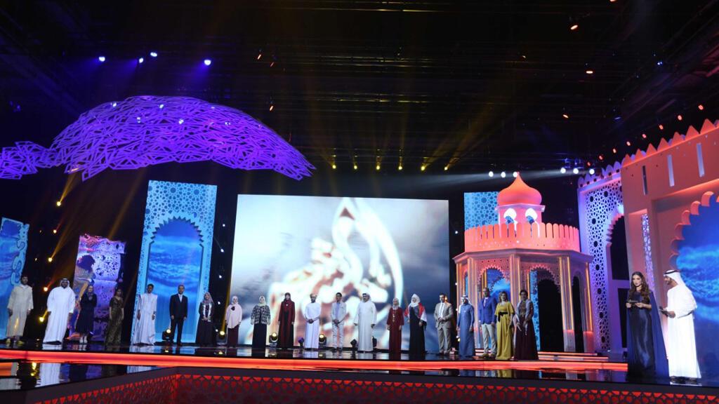 المشتركون في  مسابقة أمير الشعراء (مونت كارلو الدولية/ سعد المسعودي)