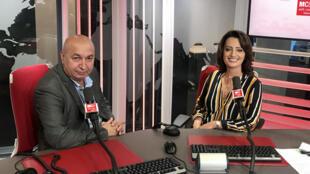 إيمان الحمود مع الصحفي الفرنسي لوران دولاك