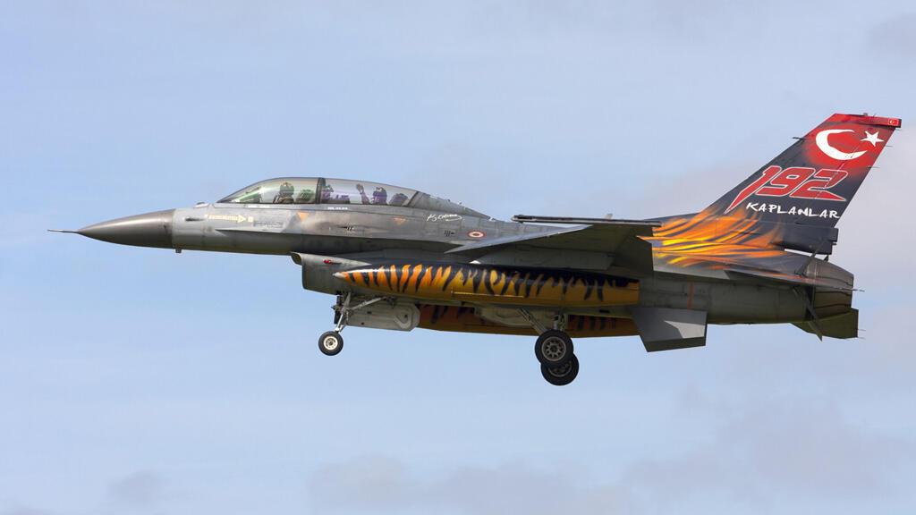 مقاتلة إف-16 أمريكية تابعة لسلاح الجو التركي
