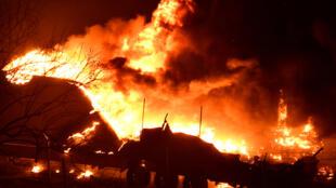 الحرائق في كاليفورنيا