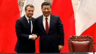 الرئيس الصيني شين جينبينغ يستقبل الرئيس الفرنسي ايمانويل ماكرون